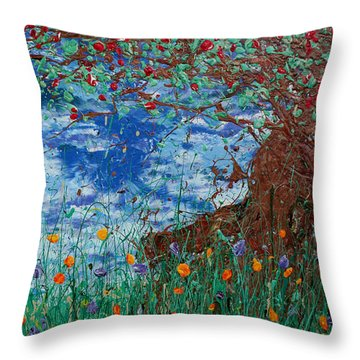 A Nice Place For A Nap Throw Pillow by Ric Bascobert