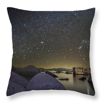 A Night At Speedboat Throw Pillow