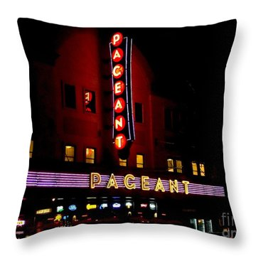 A Night At The Pageant Throw Pillow