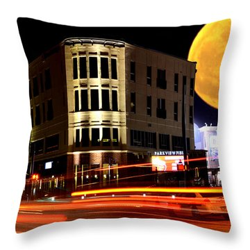 A Night Downtown Throw Pillow