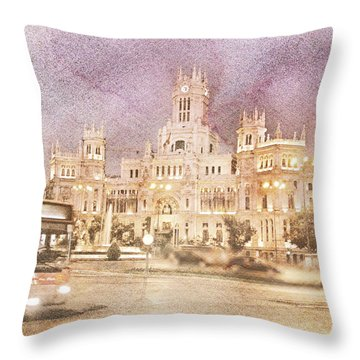 A Night In Madrid  Throw Pillow