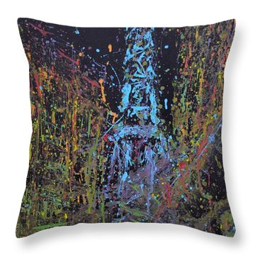 A Night In Paris Throw Pillow
