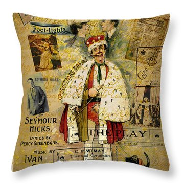 A Night On The Town Christmas Treat Throw Pillow by Sarah Vernon