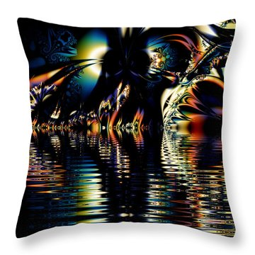 A Night On The Water Throw Pillow