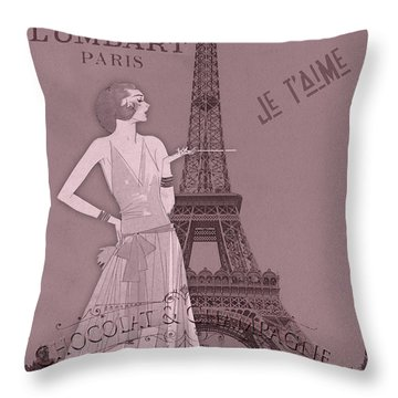 A Night To Remember Valentine Throw Pillow by Sarah Vernon