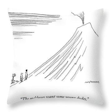 A Pagan Ritual Master Leads A Talks To A Man Throw Pillow
