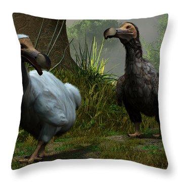 A Pair Of Dodos Throw Pillow