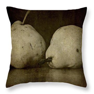 Throw Pillow featuring the photograph A Pair Of Pears by Patricia Strand
