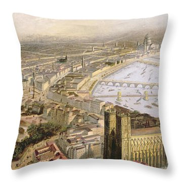 A Panoramic View Of London Throw Pillow by English School