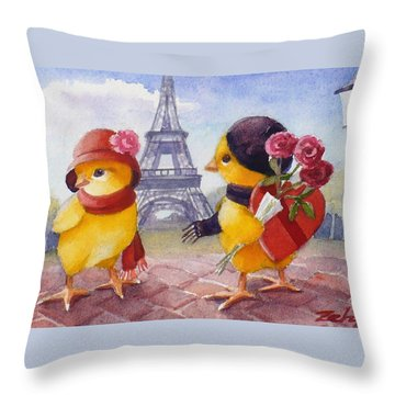 A Paris Valentine Throw Pillow