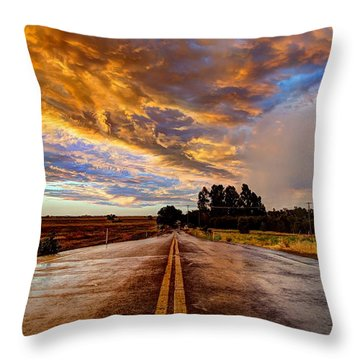 A Passing Storm Throw Pillow