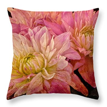 A Pastel Bouquet Throw Pillow by Chris Lord