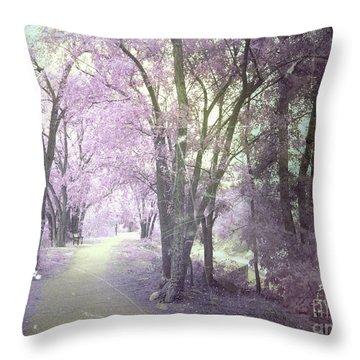 A Pastel Past Throw Pillow by Tara Turner