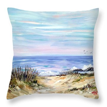 Where The Waves Are Throw Pillow