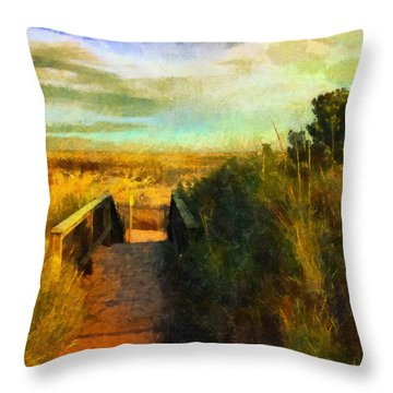 A Path To The Beach Throw Pillow
