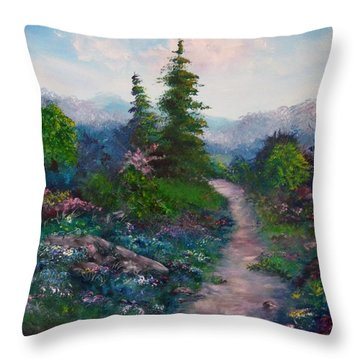 A Path Unknown Throw Pillow