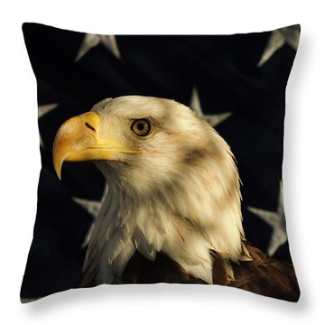 Throw Pillow featuring the photograph A Patriot by Raymond Salani III