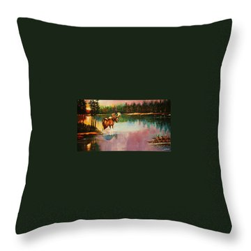 A Pause Before Crossing Throw Pillow