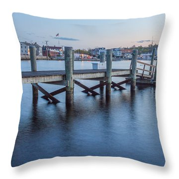 A Peaceful Dock -  Mystic Ct Throw Pillow