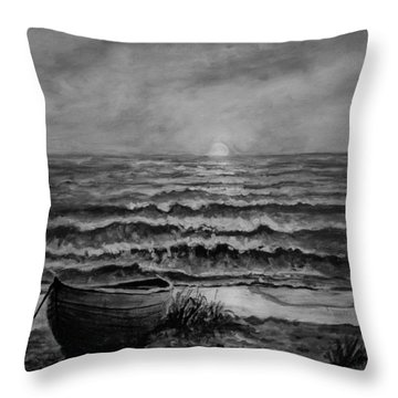 A Peaceful Evening  Throw Pillow by C Steele