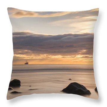 A Peaceful Sunrise Throw Pillow