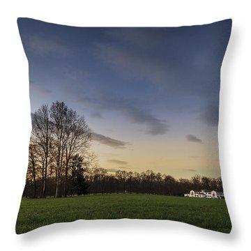 A Peaceful Sunset Throw Pillow