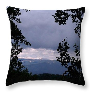 Throw Pillow featuring the photograph A Peek At Heaven by Fortunate Findings Shirley Dickerson