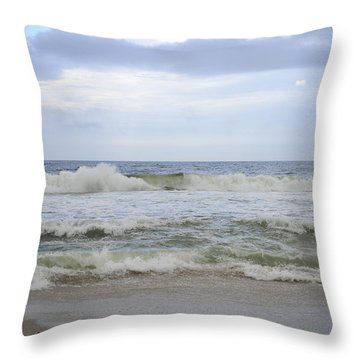 A Peek Of Blue Throw Pillow