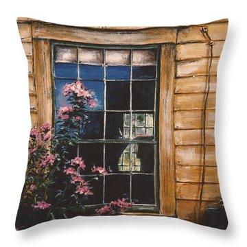 A Peek Through The Window Throw Pillow