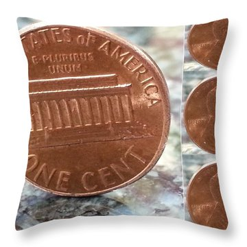 A Penny For Your Thoughts Throw Pillow by Emmy Vickers