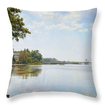 A Perfect Currituck Day Throw Pillow
