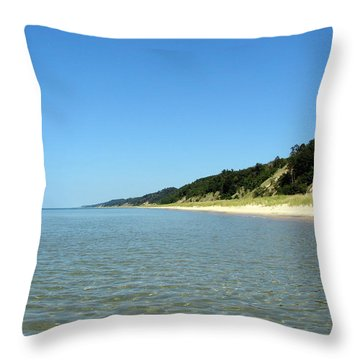 A Perfect Day On The Water Throw Pillow by Michelle Calkins