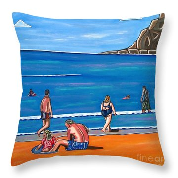 A Perfect Day Throw Pillow by Sandra Marie Adams