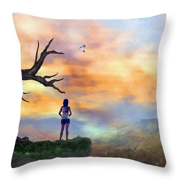 A Perfect Day Throw Pillow by Tyler Robbins