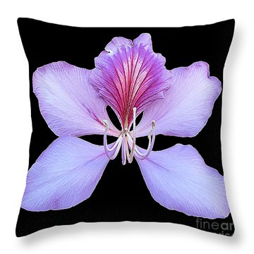 Throw Pillow featuring the photograph A Perfect Lavender Orchid by Merton Allen