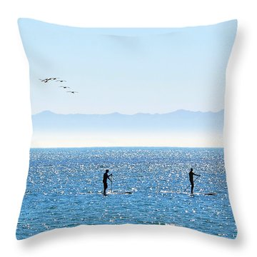 A Perfect Santa Barbara Day Throw Pillow by Susan Wiedmann
