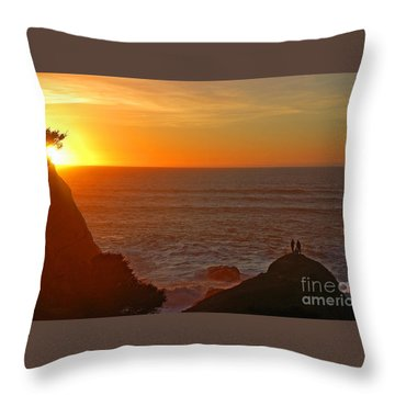 Throw Pillow featuring the photograph A Perfect Time by Nick  Boren