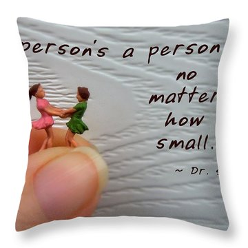 A Person . . . Throw Pillow by Renee Trenholm