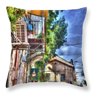 A Picturesque Street Throw Pillow