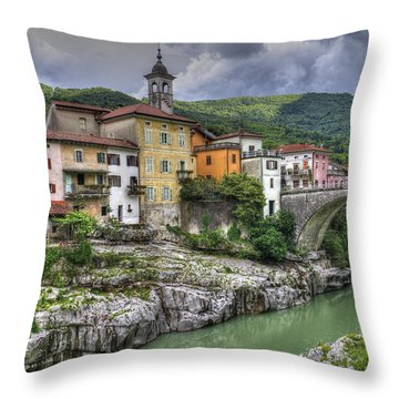 Throw Pillow featuring the photograph A Picturesque Village by Uri Baruch