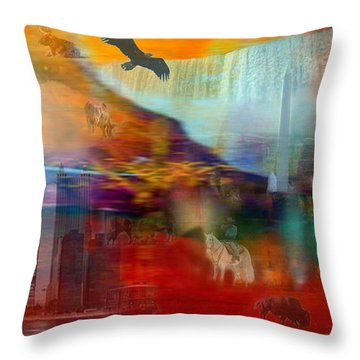 A Piece Of America Throw Pillow by Randi Grace Nilsberg