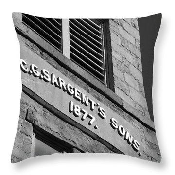 A Piece Of History Throw Pillow