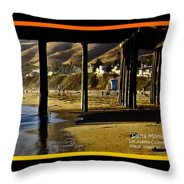 A Pier View Of Santa Monica Throw Pillow