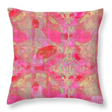 Throw Pillow featuring the digital art A Pink Universe by Gabrielle Schertz