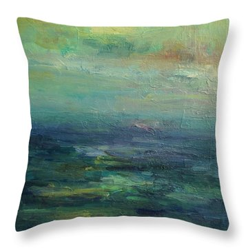 A Place For Peace Throw Pillow by Mary Wolf