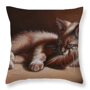 Throw Pillow featuring the painting A Place In The Sun by Cynthia House