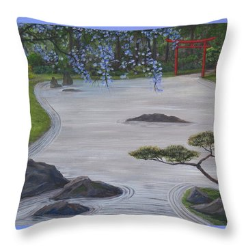 A Place Of Meditation Throw Pillow