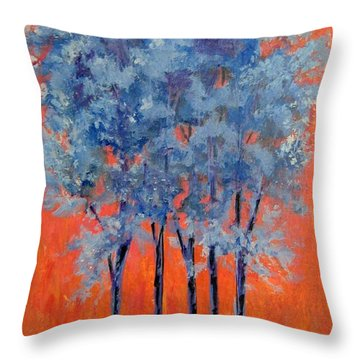 Throw Pillow featuring the painting A Place To Call Home by Suzanne Theis