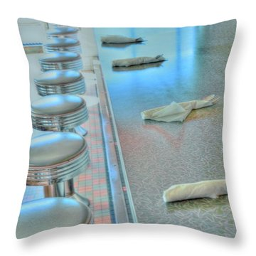 A Place To Eat Throw Pillow by Kathleen Struckle