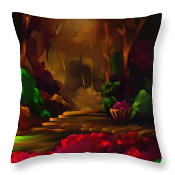 A Place To Go - Scratch Art Series - #72 Throw Pillow by Steven Lebron Langston